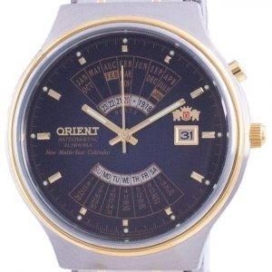 Orient Wide Multi-Year Calendar Blue Dial Automatic FEU00000D Men's Watch