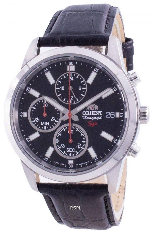 Orient Sporty Chronograph Black Dial Quartz FKU00004B0 Men's Watch